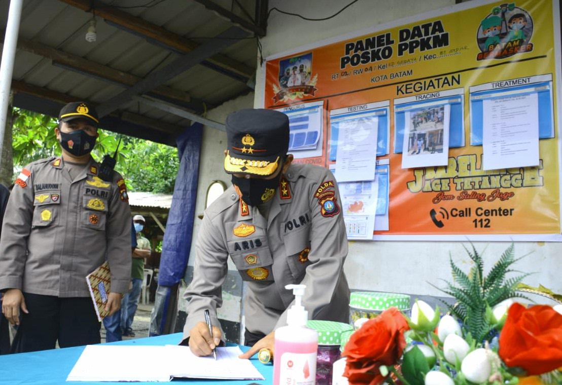 Kapolda Kepri Tinjau Langsung Posko PPKM dan Karantina Asrama Haji Batam