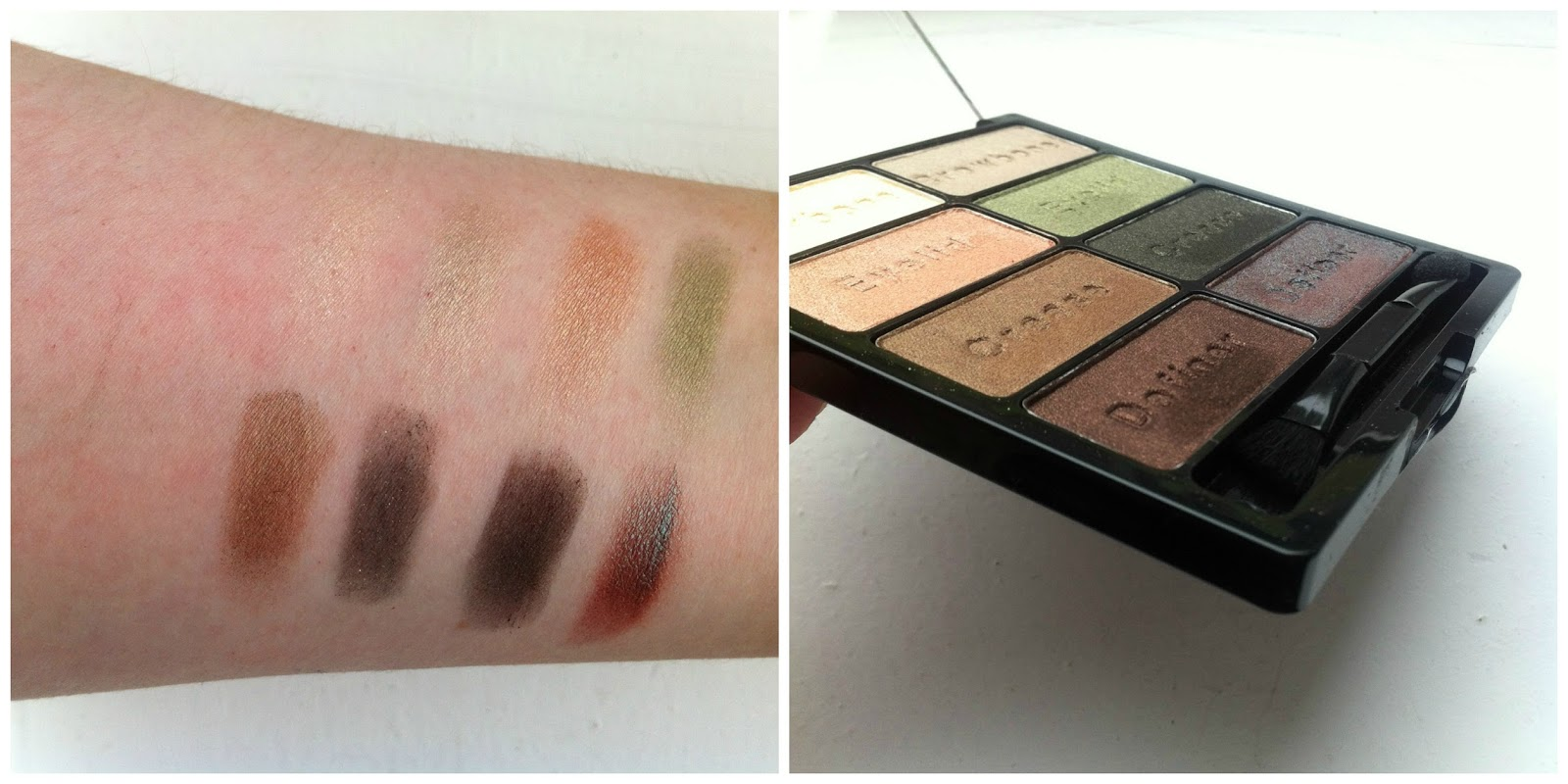Wet n wild comfort zone palette swatches