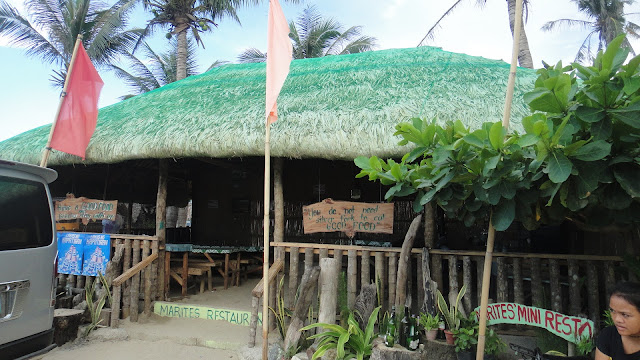 Nipa Hut design Restaurant at Blue Lagoon Pagudpud