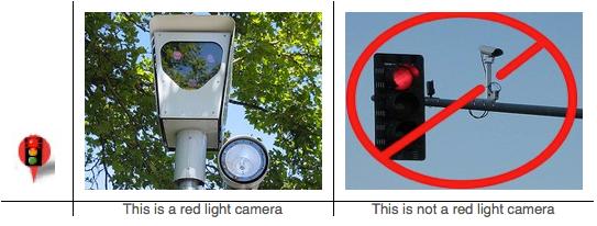 traffic camera vs red light camera in los angeles