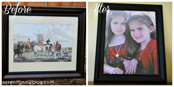 Quickly Updating a Frame with Spray Paint & a New Print! from Serenity Now blog