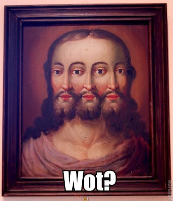 Three face Jesus picture