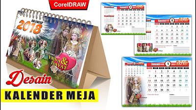 Template Kalender Duduk Wedding CDR