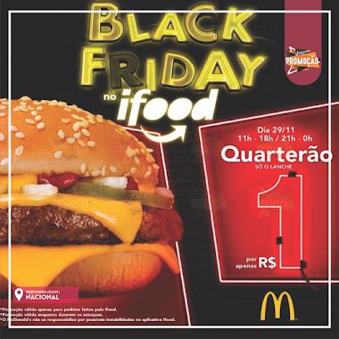 BLACK FRIDAY NO IFOOD – Quarterão McDonalds por R$1