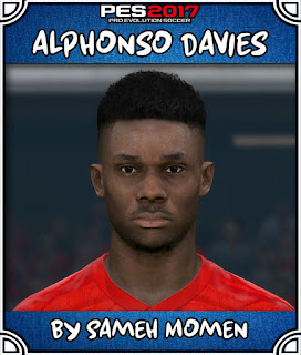 PES 2017 Faces Alphonso Davies by Sameh Momen