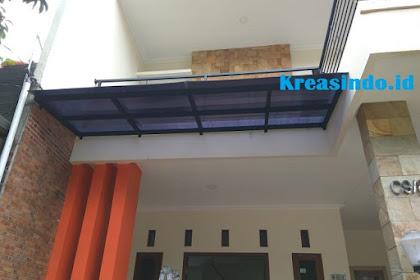 Ganti atap Canopy di Rumah Bpk Maulana di Perum Jatijajar Depok Jawa Barat