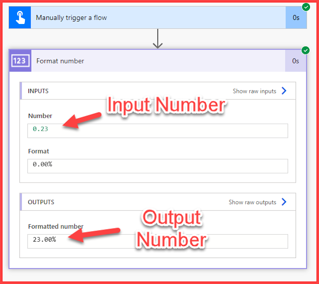 How to Format Number to Percentage in PowerAutomate