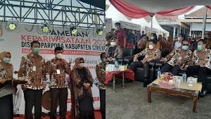 Dalam Rangka Hari jadi Kabupaten Cirebon ke 539 Disbudparpora Gelar Pameran di Pasar Sentra Batik Trusmi