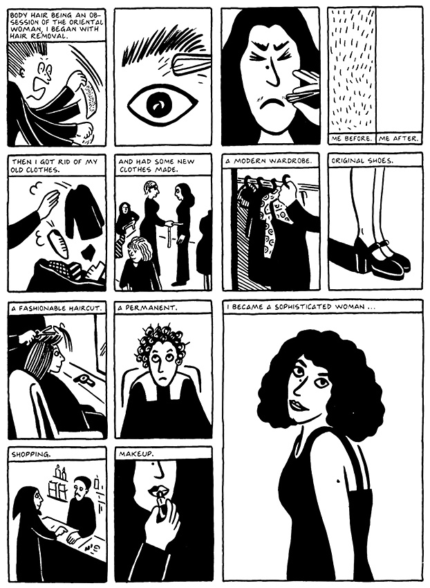 Read Chapter 12 - Skiing, page 120, from Marjane Satrapi's Persepolis 2 - The Story of a Return