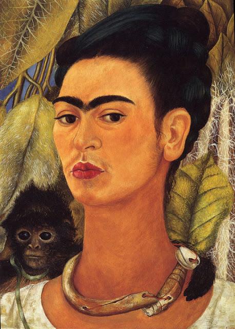 Фрида Кало - Автопортрет с обезьянкой. 1938