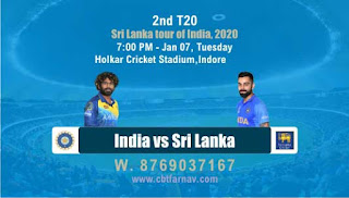 Today Match Prediction Ind vs SL T20 2nd T20 Match 100% Sure