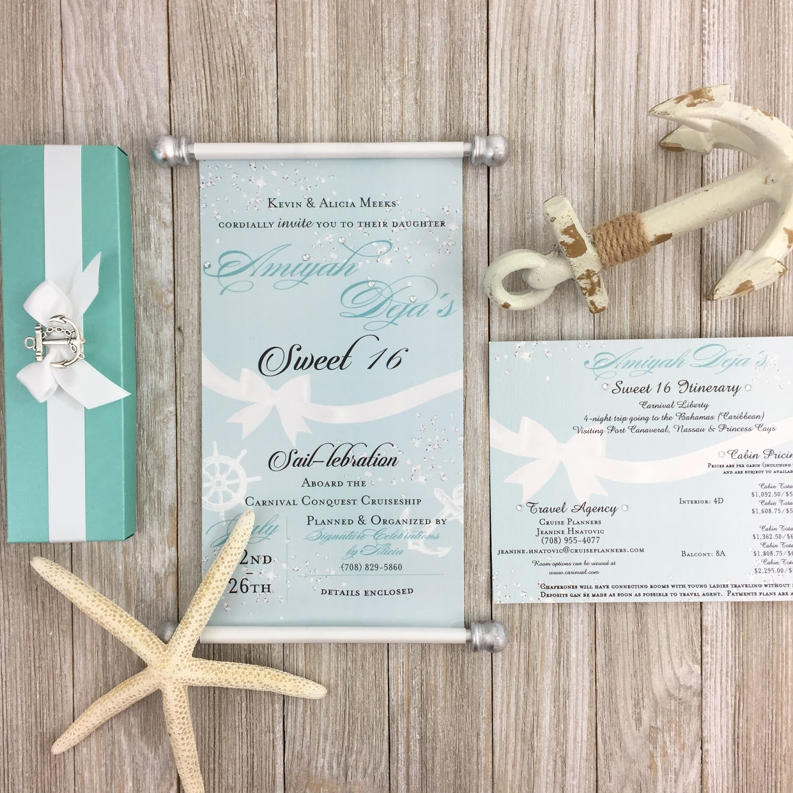 Tiffany Inspired Nautical Sweet 16 | Simply Fab & Chic