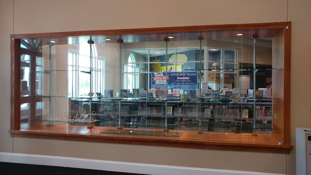 Display case at public library