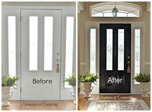 Adventures in decorating new paint means new chandie - Front door paint ideas ...