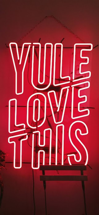 Yule love this LED red signage wallpaper