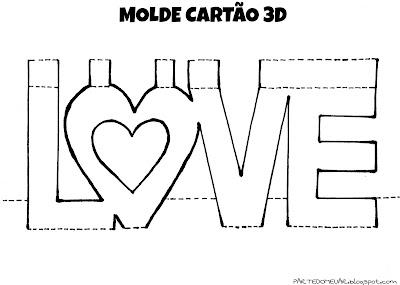 Molde cartão pop up 3D