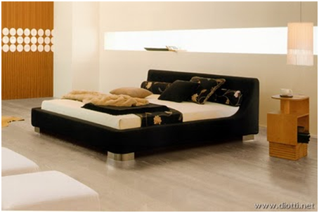 UPHOLSTERED BEDS BLACK - MODERN BEDROOMS - TAPESTRY FOR DORMS