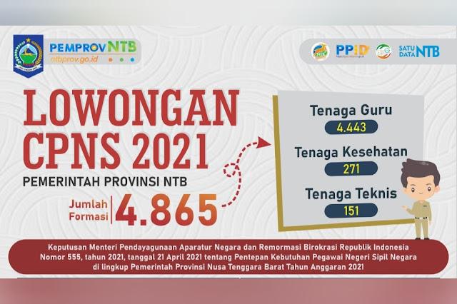4.865 formasi CPNS Pemprov NTB, pendaftaran dibuka bulan ini