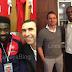 Exclusive photos: Kanu Nwankwo celebrates with Arsenal & Milan legends after scoring hat trick in 4-2 win