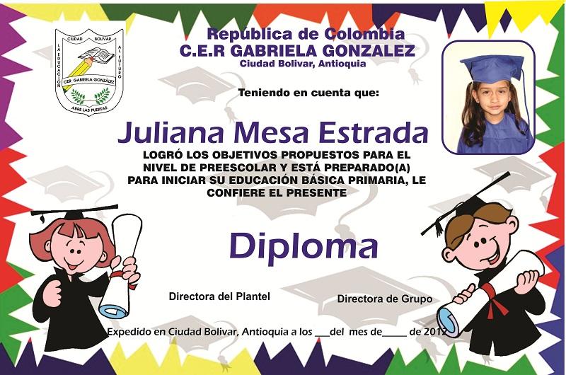diplomas para niños para editar de graduacion -