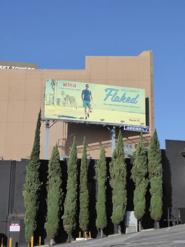 Flaked series launch billboard