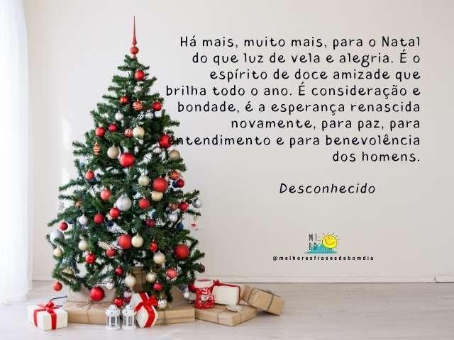 Frases de Natal - Há mais, muito mais, para o Natal do que luz de vela e alegria.