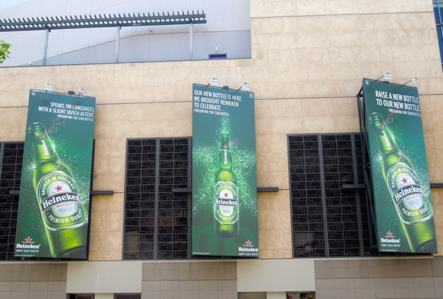 Heineken Star Bottle billboards