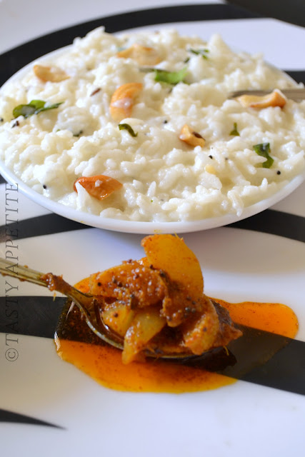 Curd Rice with Amla Pickle