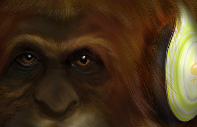 finding human by Mark Taylor, Sasquatch art, Mark Taylor, Fine Art,