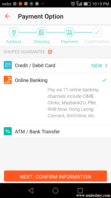 online payment option in Malaysia