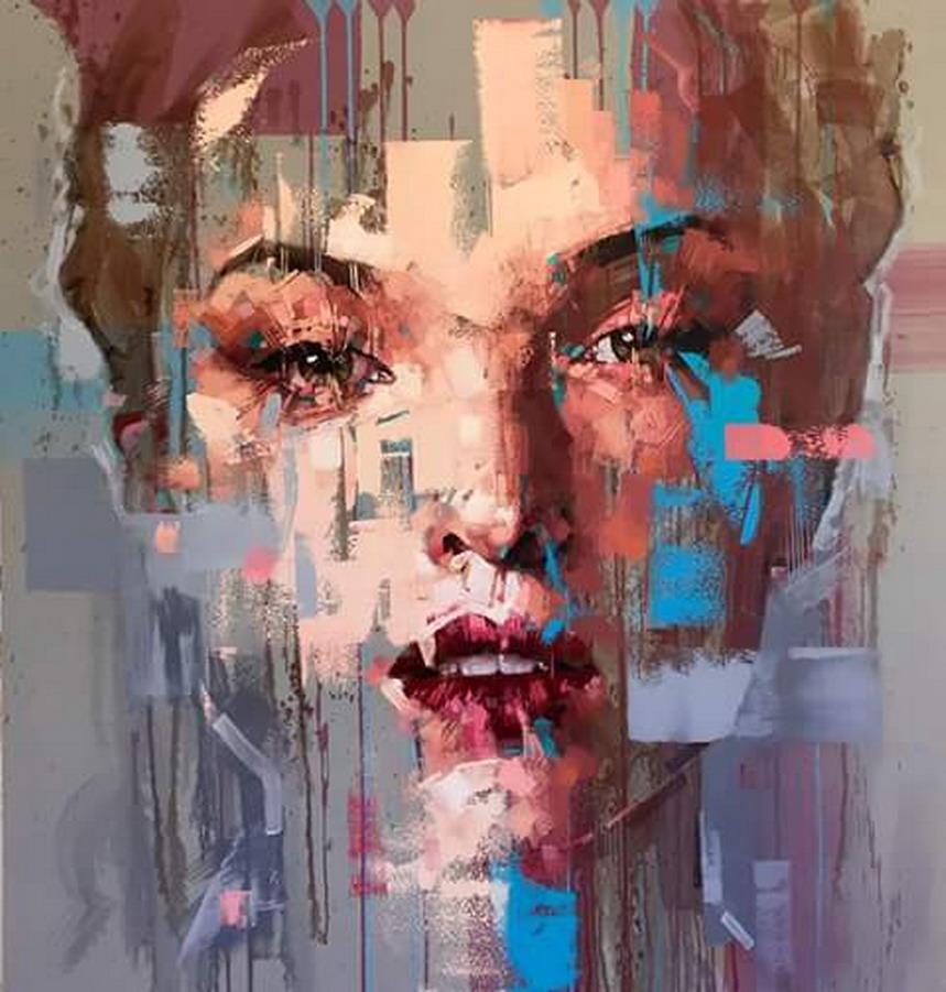 Pintura Moderna y Fotografía Artística : Rostros Abstractos En ...