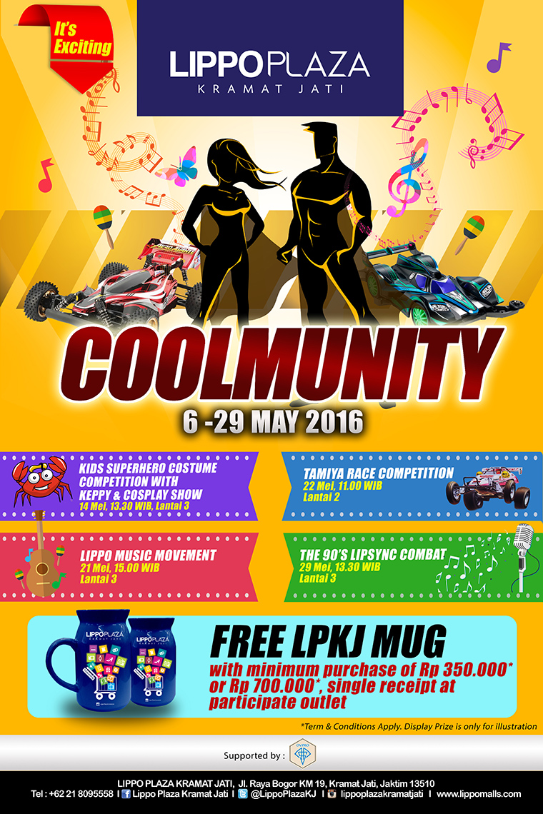 Event Bulan Mei Jakarta Timur : Coolmunity di Lippo Plaza Kramat Jati