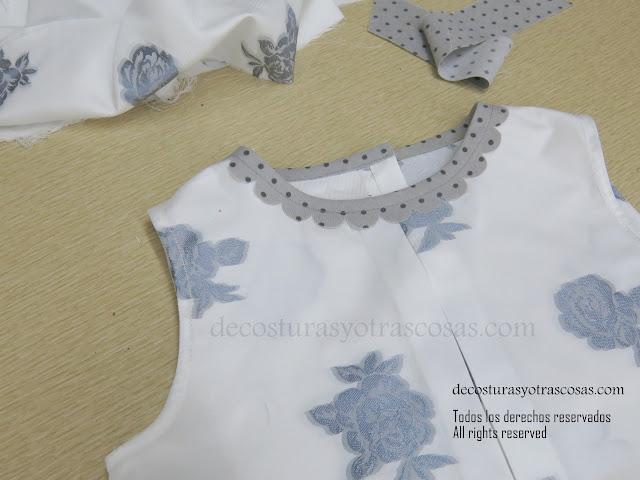vestido niña con escote decorado