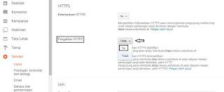 Cara Pasang SSL di Blogger dengan Mudah, aktifasi https, rubah http ke https diblogger