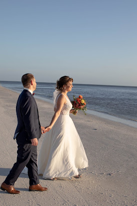 Bride and groom memorable photos on Fort Myers Beach.