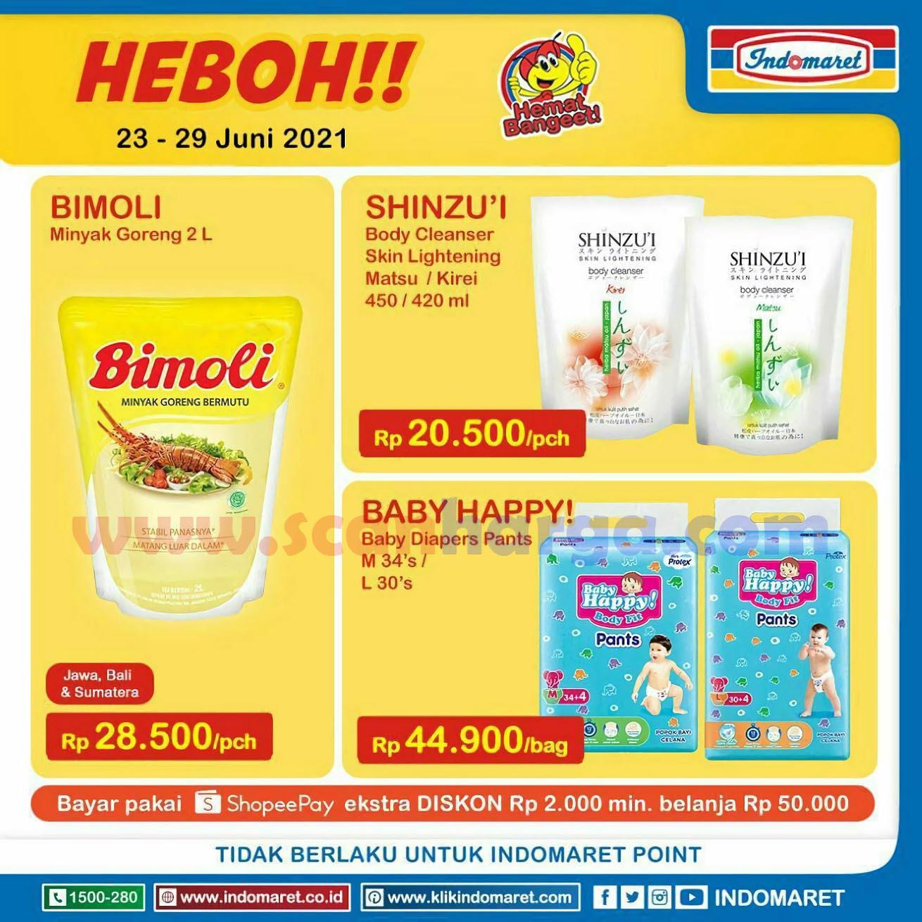 Promo Indomaret Heboh 23 - 29 Juni 2021 Harga Minyak Goreng & Susu Murah