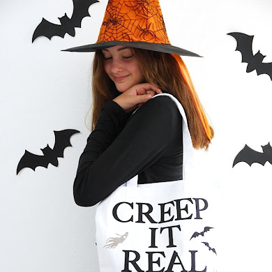 DIY No-Sew Halloween Trick or Treat Tote Bags