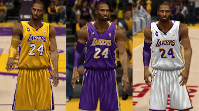NBA 2K13 Lakers Jerseys with Jerry Buss Patch