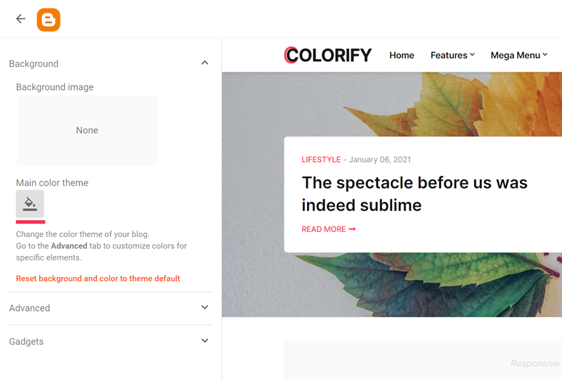 Customize Colorify