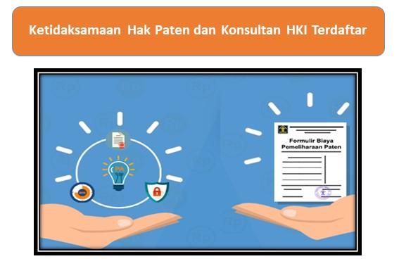 Ketidaksamaan Hak Paten dan Konsultan HKI Terdaftar
