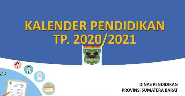 Kalender Pendidikan  Tahun Pelajaran 2020/2021 Sumatera Barat