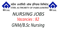 Steel Authority of India Limited Nursing jobs