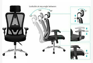 Ticova Office Chair - Rotatable and Adjustable Mesh Seat