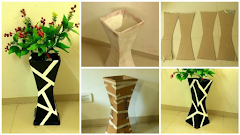 Cara Mudah Membuat Vas Bunga Berbahan Kardus Bekas