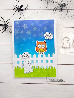 Boo HOO a ard by Diane Morales | boo hoo stamp set by Newton's Nook Designs