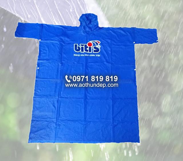 in logo áo mưa