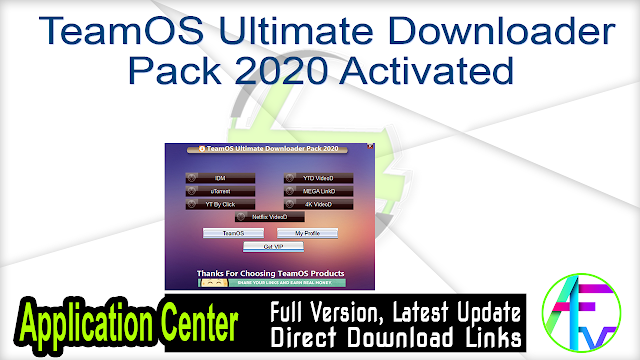 TeamOS Ultimate Downloader Pack 2020 Activated