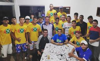 Em busca de apoio, Atletas da Picuiense visitam deputado Chió