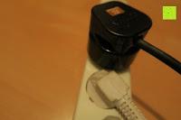 Steckdose: Andrew James – 23 Liter Mini Ofen und Grill mit 2 Kochplatten in Schwarz – 2900 Watt – 2 Jahre Garantie