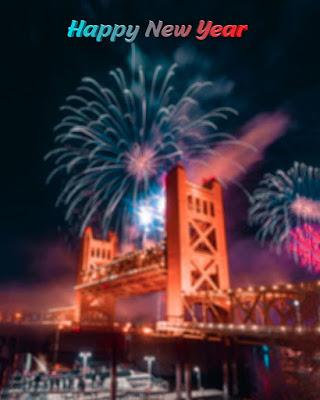 new year fireworks 2021 background